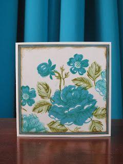Stampinggranny - Ankie: Blauwe rozen