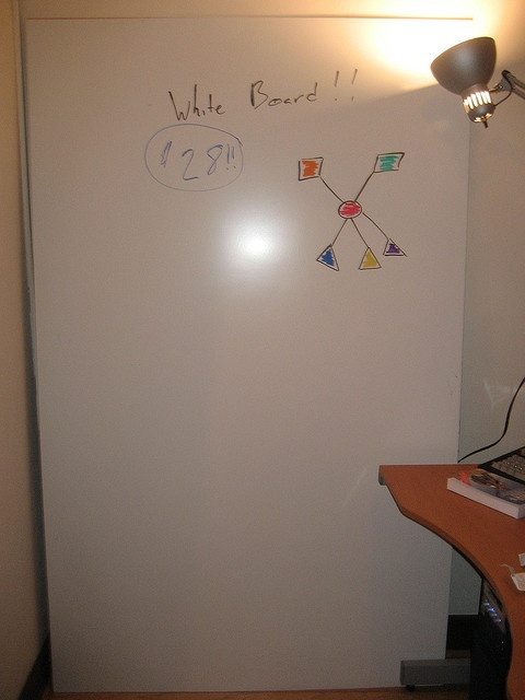 How to make a wall-sized whiteboard out of showerboard for around $30.