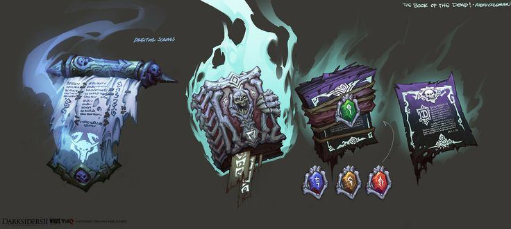 Darksiders 2 - The Book of the DEAD by aecoleman - Avery Coleman - CGHUB via PinCG.com