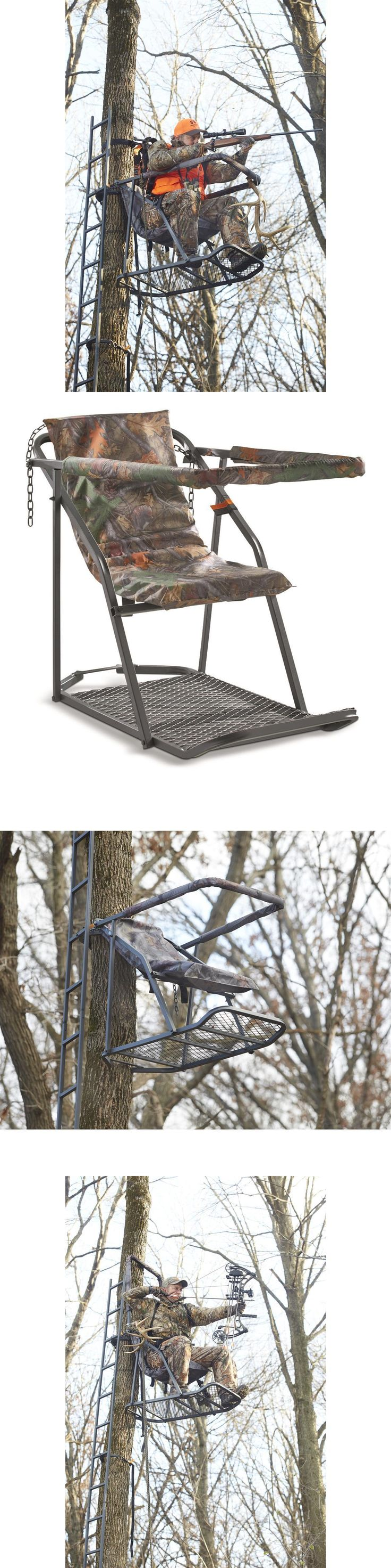 Bow hunting chair - Tree Stands 52508 Hunting Tree Platform Stand Bow Rifle Big Game Deer Safe Shooting Rail