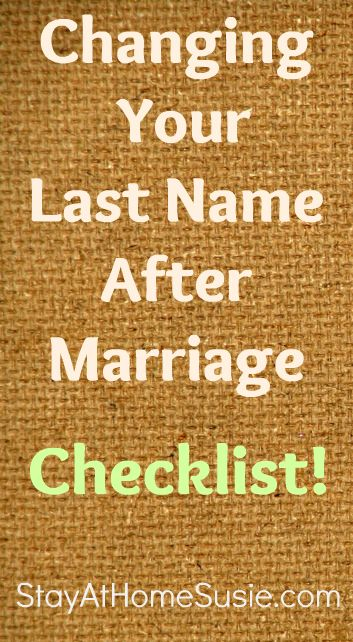 all the places that you need to remember to get your name changed after you get married- if you change it...or hyphenate