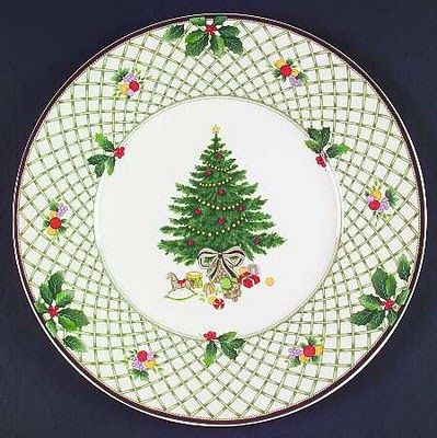 Christmas Story by Mikasa - I own 8 place setting, serving platters, creamer/sugar, tall coffee/moco cups, & two quart serving dishes for hot foods/w tops. Pattern is no longer made. I look for pieces yearly to add to collection I own.