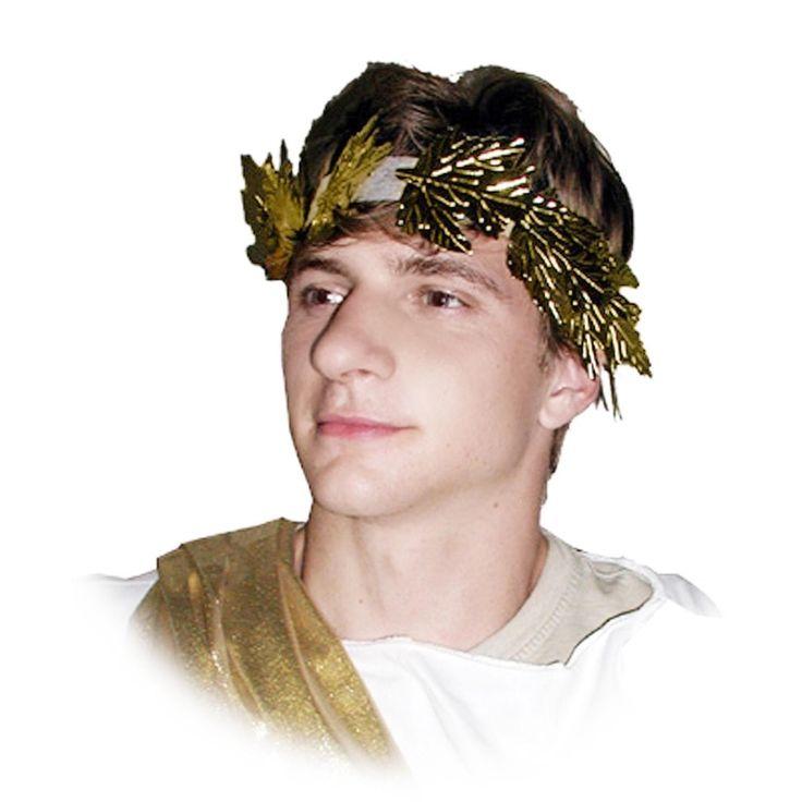 Gold Greek Roman Wreath Headband Julius Caesar Costume Accessory | Costumes.com.au