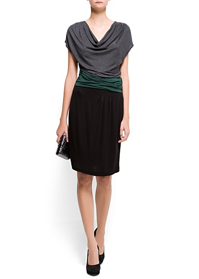 LOVE this draped dress for work!
