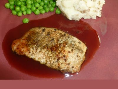 Living FOR REAL Pork chops with raspberry sauce!