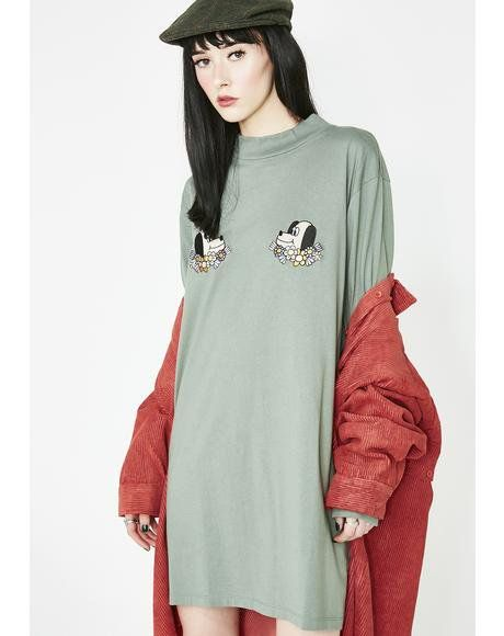13048a4f09cd Puppies T-Shirt Dress #dollskill #lazyoaf #puppies #tshirt #dress  #oversized #flowers