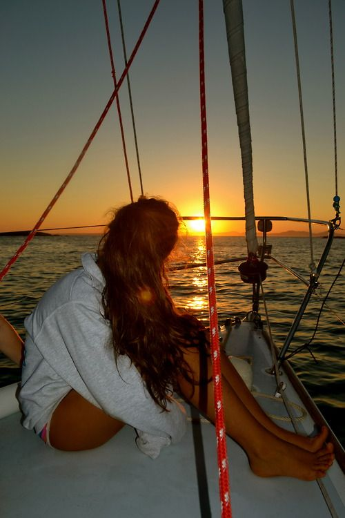 sunset and boat | BOATING and SAILING | Pinterest | Summer, Sailing and Sunset