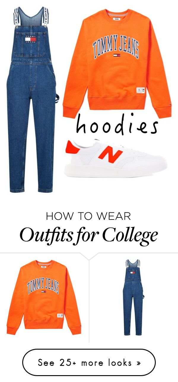 """""""hoodie"""" by annaandemilie on Polyvore featuring Tommy Hilfiger, New Balance and Hoodies"""