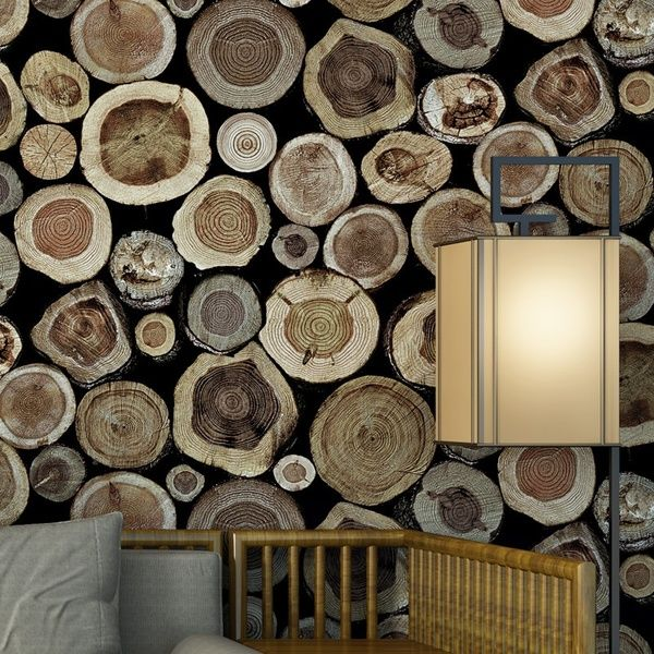 Vintage Mural Wallpapers Wood Flock Wall Paper For Living Room Hotel Decoration Wish In 2021 Wood Wallpaper Wooden Wallpaper Mural Wallpaper