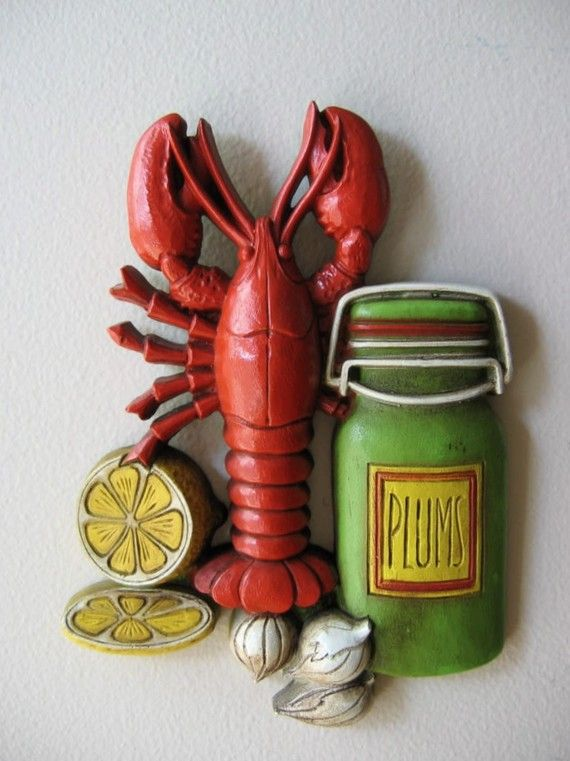 Perfect Vintage Lobster Wall Decor   I May Have This Still! It Was On The Wall In  My Last Apartment With A Companion Piece. | Pinterest | Wall Decor,  Apartments And ...