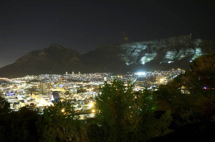 Cape Town at night. No Hollywood sign needed here.