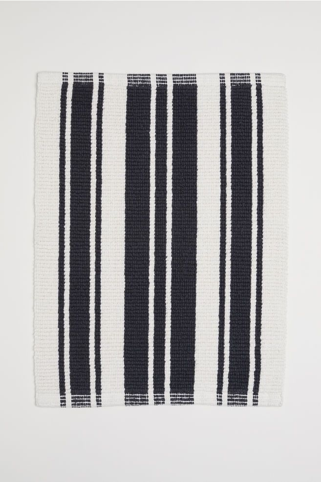 Striped Bath Mat Black Bath Mat Bath Mat White Bath Mat