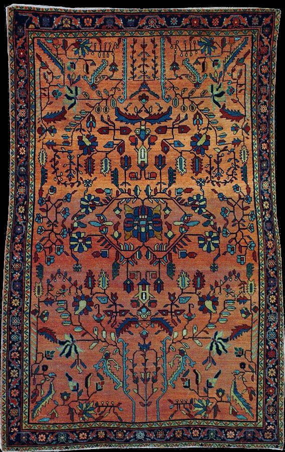 Persian Sarouk Mahajeran rug, early 20th Century