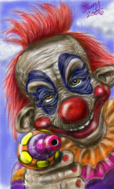 Killer Klown picture I did on Corel Art Dabbler from the Killer Klown cd by the Dickies