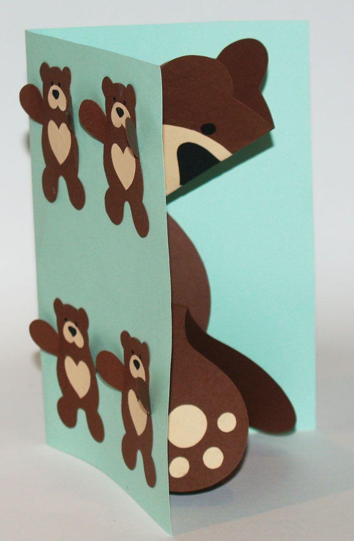 Объемные открытки медведь