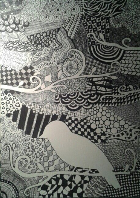 Zentangle with bird :)