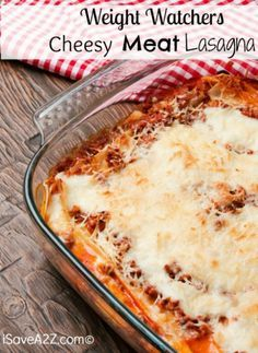 This Weight Watchers Lasagna With Meat Sauce, just 8 points per serving) is worth every point! Serve it with a simple salad for a delicious meal.