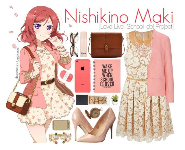 """""""Nishikino Maki [Love Live! School Idol Project]"""" by anggieputeri on Polyvore featuring Michael Kors, Madden Girl, Marco Bicego, Joules, Sugarhill Boutique, Chloé, Pelle and NARS Cosmetics"""