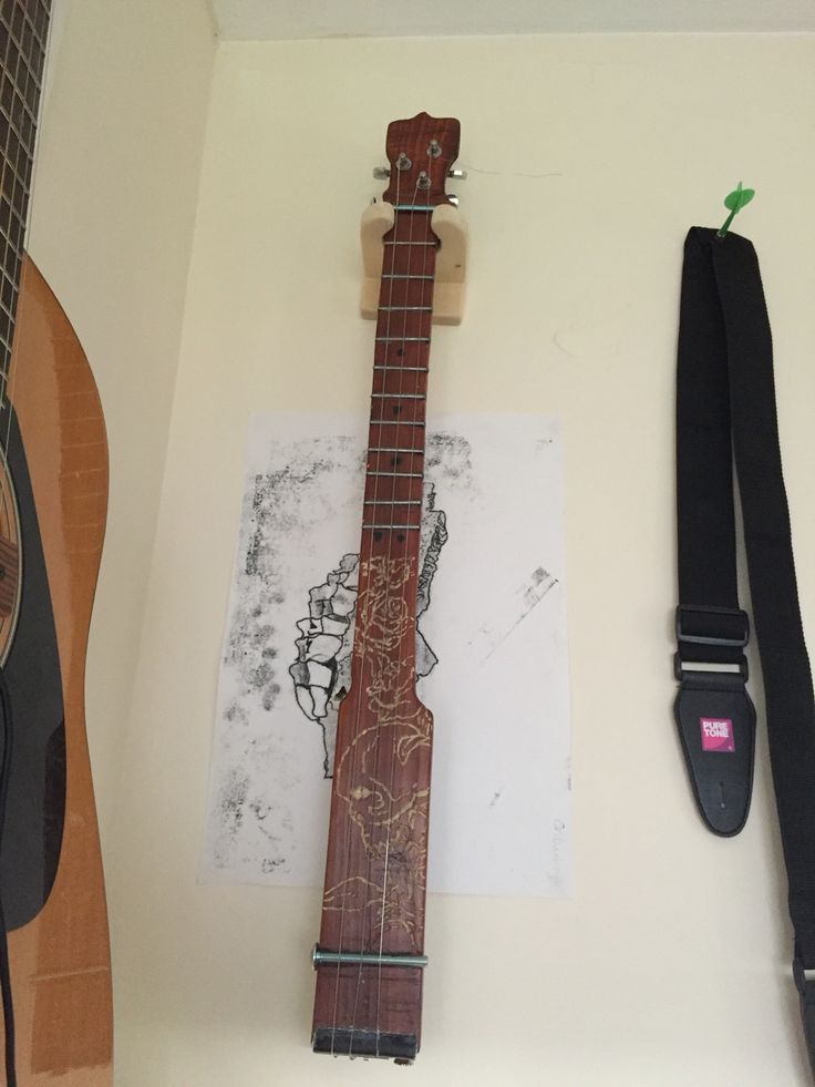 Made a guitar neck for a cigar box guitar. I'll class it as art. Why not?