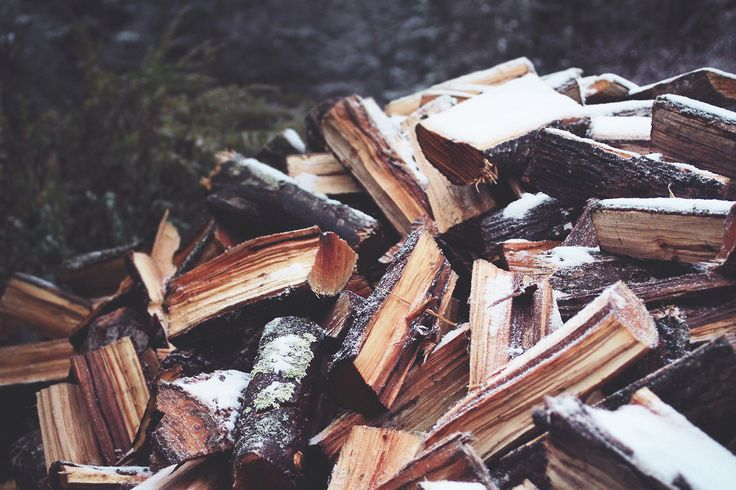 Love the smell of freshly chopped wood!