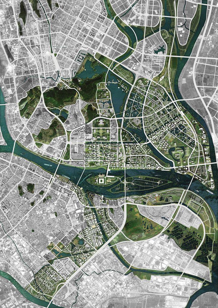 Shunde City: Master Plan   OMA Location: Shunde City, Guangdong, China Map: 1. 2. 3. 4. 5. 6. #ad