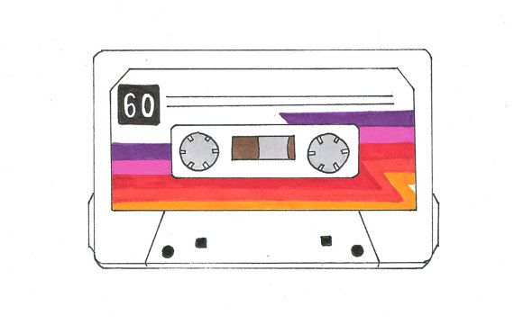 cassette drawing with color