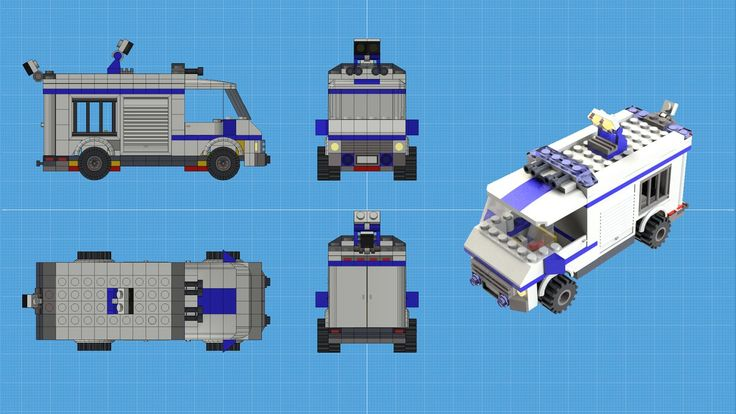 This Police Van needs the stickers.  26k polygons.  Have to look into how to add a graphic in modo.  Otherwise, I'm really happy with how it turned out.