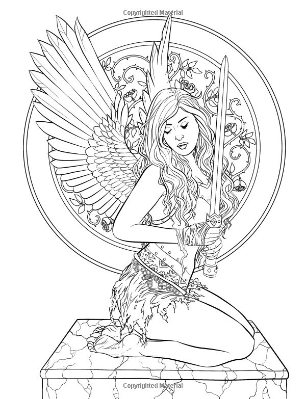 dark fantasy coloring pages - photo#13