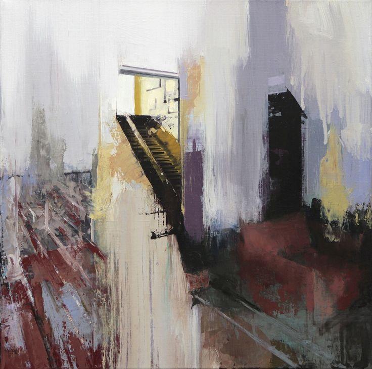 Tim Kent - A Light Rush 2014 Oil on Linen 18 x 18 Inches