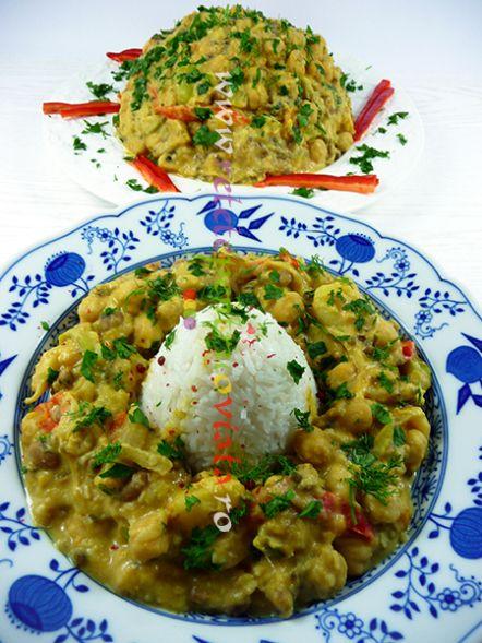 Reteta de orez cu legume si naut - o reteta ideala atunci cand am gatit naut, fasole sau linte si dorim sa obtinem rapid o noua mancare.