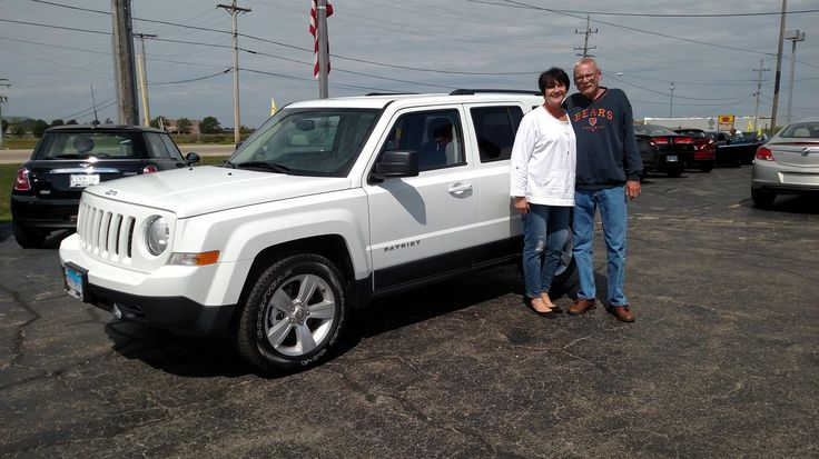 JEANNE AND DAVID's new 2017 Jeep Patriot! Congratulations and best wishes from Kunes Country Auto Group of Sterling and Scott Bice.