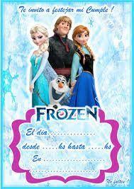 Resultado de imagen para invitaciones de frozen Más