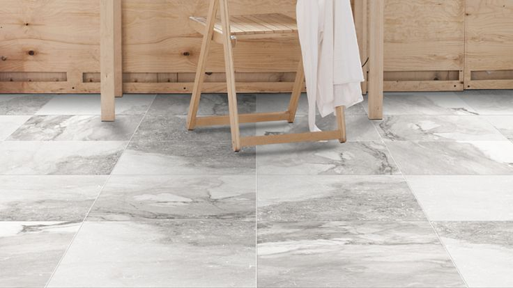 A porcelain tile from our Castle Series, seen here in the colour Grey with a matte finish.