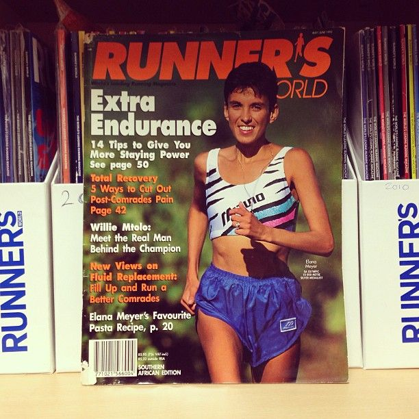 Runner's World is turning 20! To celebrate 2 decades of running, we'll be taking a trip down memory lane.   This is the first ever cover of Runner's World South Africa, May 1993, featuring the lovely Elana Meyer.