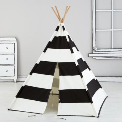 A Teepee to Call Your Own (Black Stripe)    The Land of Nod