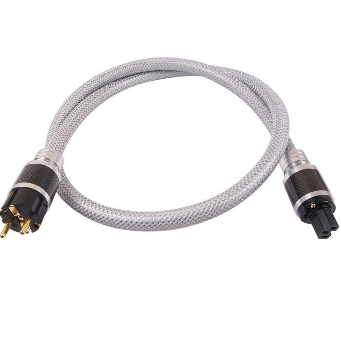 ELECAUDIO CS-361B Câble Secteur OCC Isolation PTFE 3x2.5mm² 1.50m  Ce câble secteur clef en main est conçu à partir des meilleurs éléments du constructeur, à savoir le nouveau câble CS-361B à la structure type Fil de Litz et des connecteurs Carbone PS et PI 26.  Le CS-361B est un câble secteur développé selon une célèbre structure de conducteurs Audiophile à savoir le fil de Litz, utilisant des fils des brins de fils de cuivre isolés individuellement.