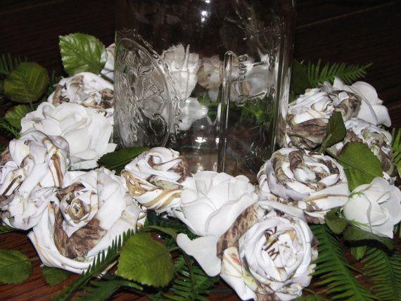White Camo Wedding Decorations Snow camo wedding decorations