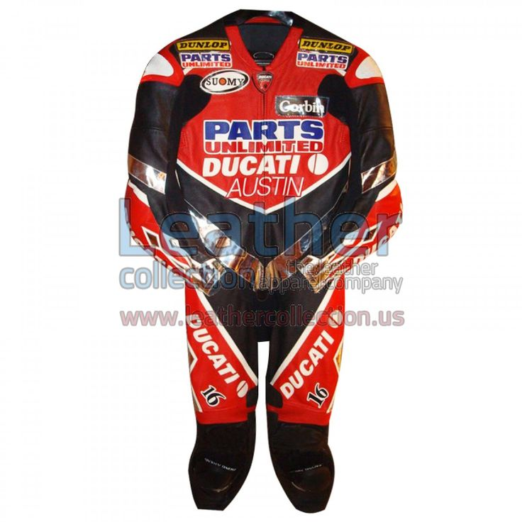 Anthony Gobert Austin Ducati 2003 AMA Race Suit - https://www.leathercollection.us/en-we/anthony-gobert-ducati-ama-race-suit.html Ducati Clothing, Ducati race suit #DucatiClothing, #DucatiRaceSuit