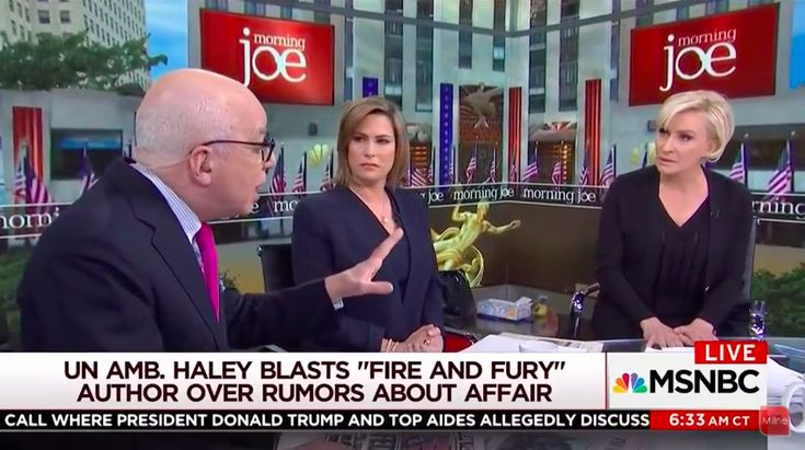 "Mika Brzezinski Shuts Down Michael Wolff Interview During Spat Over Nikki Haley Rumors The ""Morning Joe"" co-host called the author's behavior ""disgraceful."" 