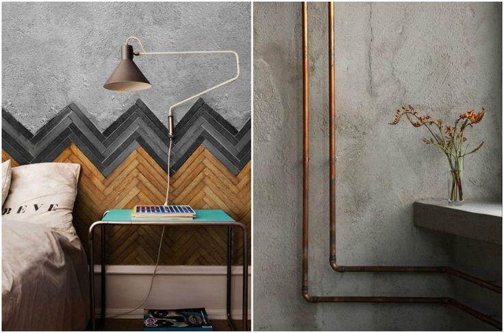 Неординарные комбинации бетона с другими материалами #interior #мебель #дизайн #интерьер #дом #уют #декор