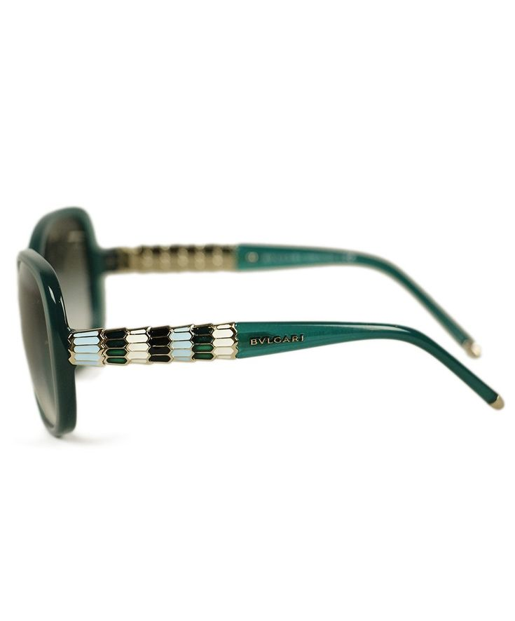Bvlgari Green Plastic Sunglasses 2