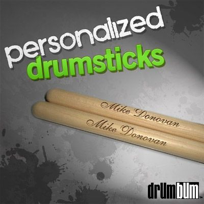 Custom, Personalized Drumsticks with your Drummer's name on them.. There's no greater idea for a gift for birthday, Christmas, as a wedding gift or any special occasion. Personalized, custom drumsticks feature their engraved name and everybody loves to have their name on their gift! Quality sticks with engraved name. Available in many fonts.