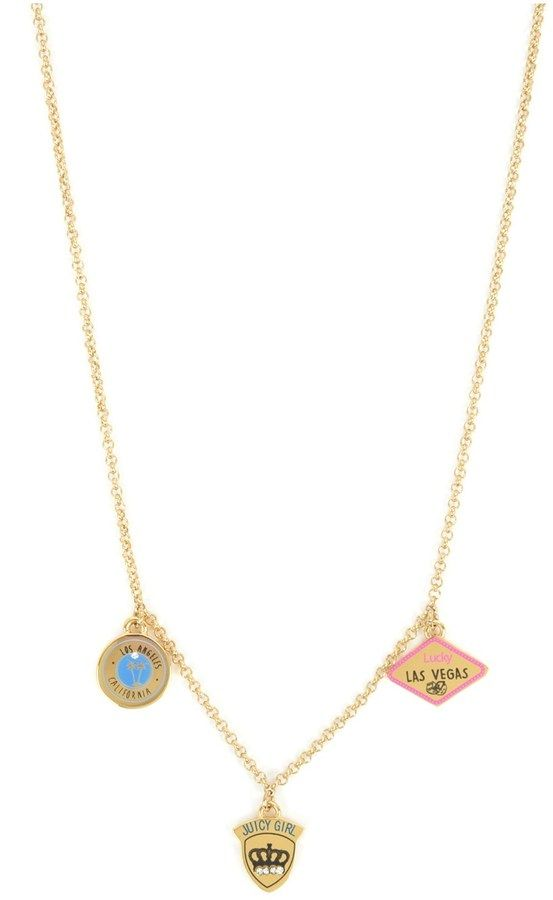 Juicy Couture Outlet - GIRLS TRAVELING CHARMS NECKLACE