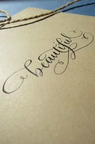 custom calligraphy work
