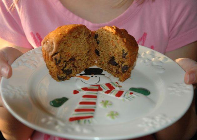 ... Katrina and her girls make Pumpkin, Carrot & Chocolate Chip Muffins