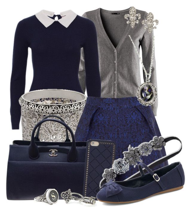 Treasure in the Royal Tower by detectiveworkisalwaysinstyle on Polyvore featuring H&M, Mother of Pearl, Chanel, Wet Seal, Forever 21, Hoolala, KC Designs, Tory Burch and Fantasia