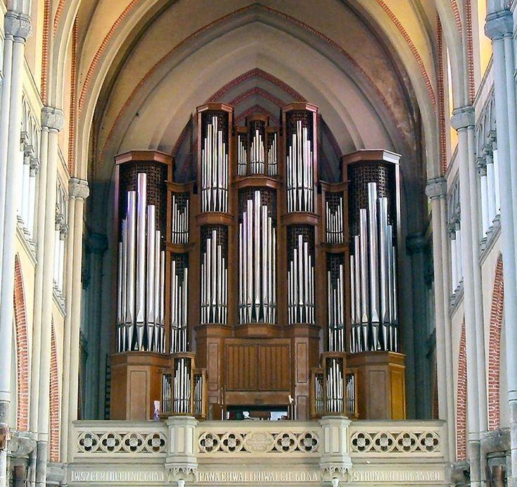 Łódź ( Pologne ) Archikatedra St Stanisłas Kostki - Grand-orgue Bazylika archikatedralna św. Stanisława Kostki Eisenbarth, 1978
