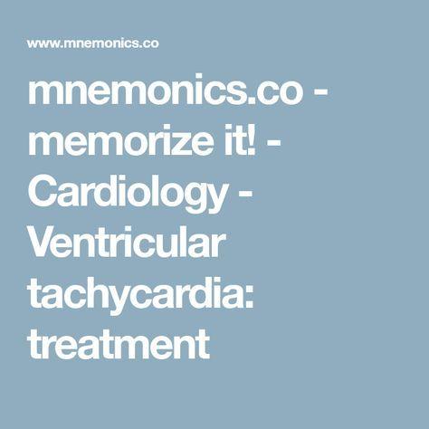 mnemonics.co - memorize it! - Cardiology - Ventricular tachycardia: treatment