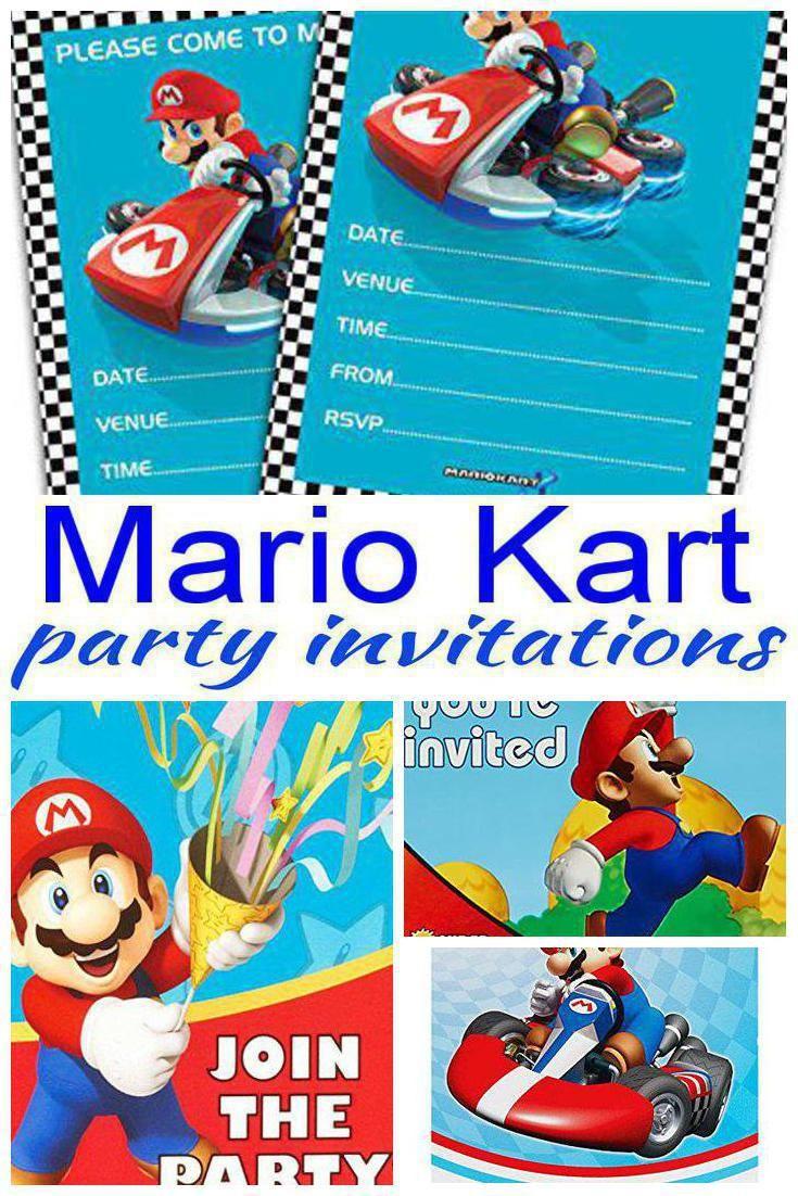 mario kart party invitations mario