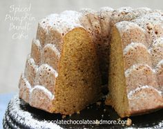 Spiced Pumpkin Bundt Cake-the blend of spices and pumpkin come together to create this flavorful cake!